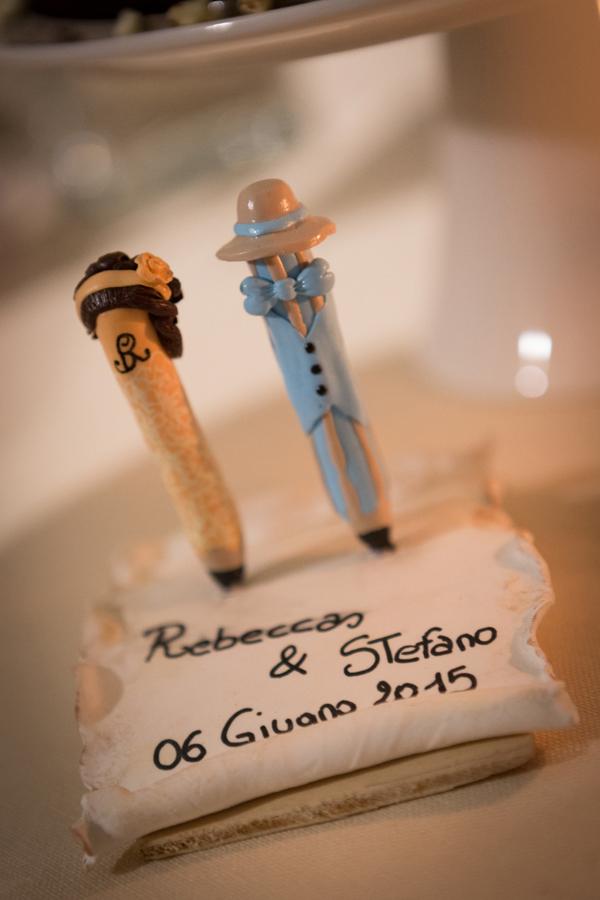 cake topper matrimonio vintage
