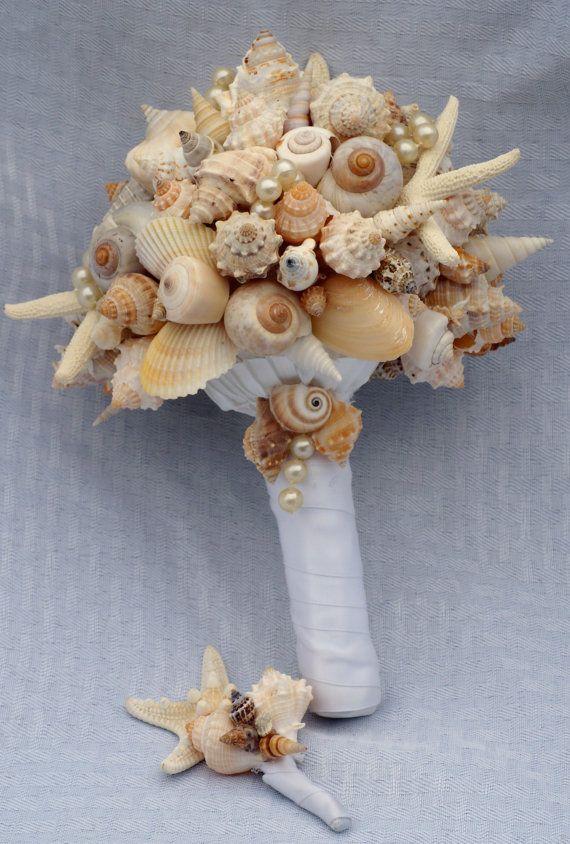 Künstlich Brautstrauß | Brautstrauß mit den Muscheln