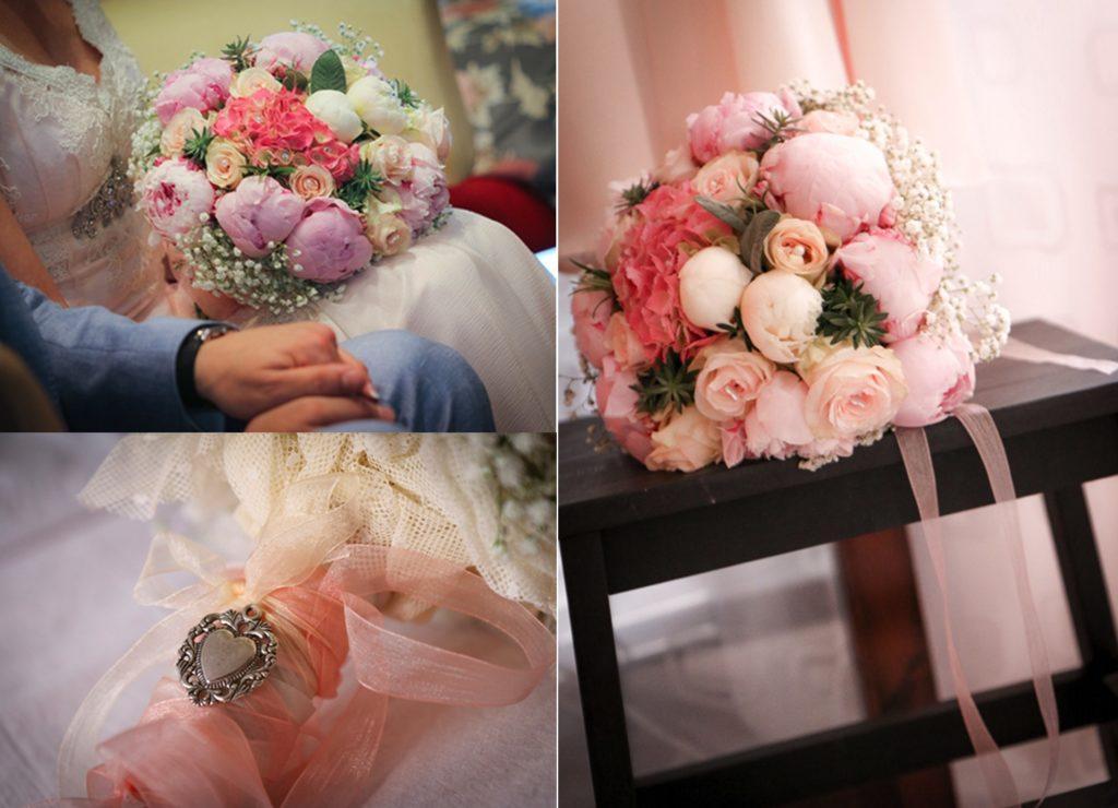 Vintage wedding flower bouquet