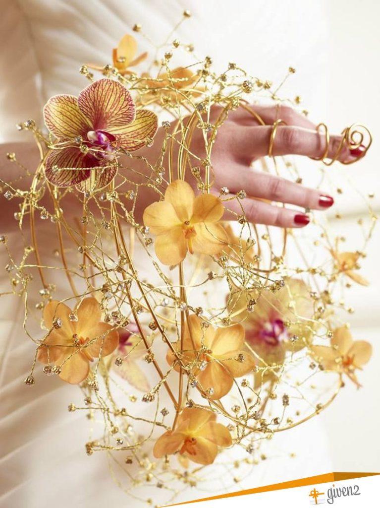 Idée bouquet de mariée original | Bouquet de Mariée en forme d'anneau