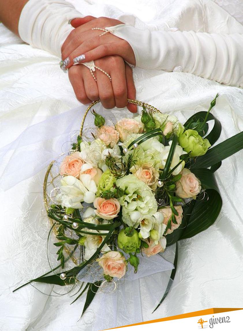bouquet sposa originali: a borsetta