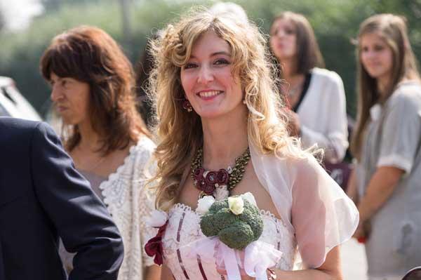 bouquet sposa con verdure