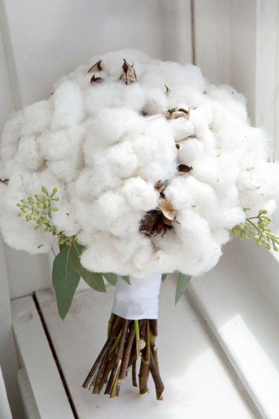 bouquet sposa particolare con cotone