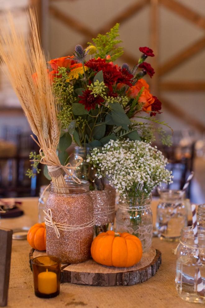 rustic wedding centerpieces jars