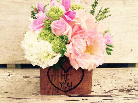 wedding centerpieces Wooded Flower Box