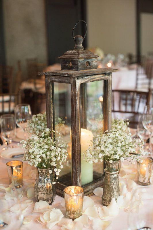 rustic wedding centerpieces lantern