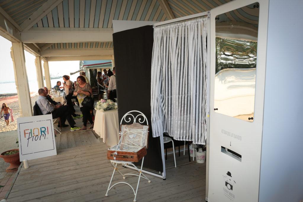 photo booth  allestimento per matrimonio