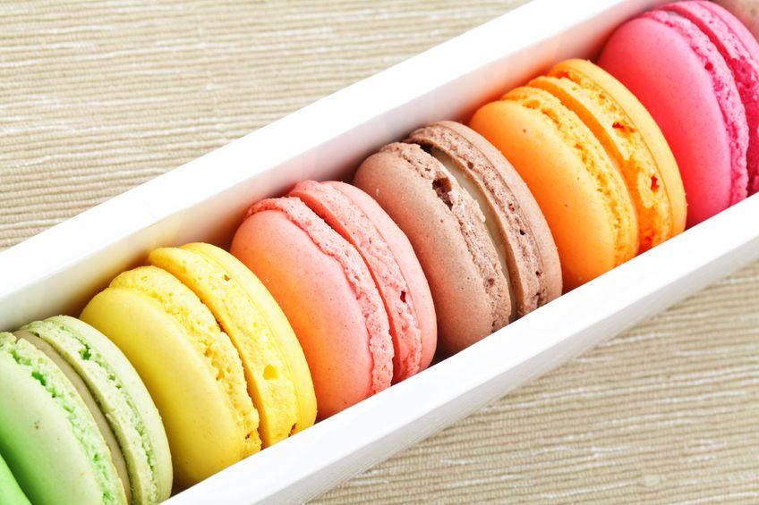 Ideen für DIY Geschenke für Gäste macarons