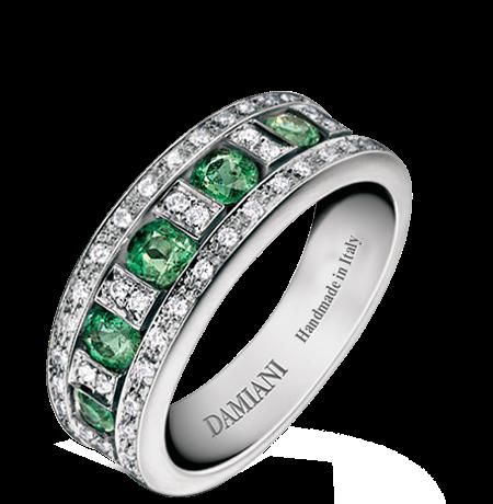 anello di fidanzamento smeraldo