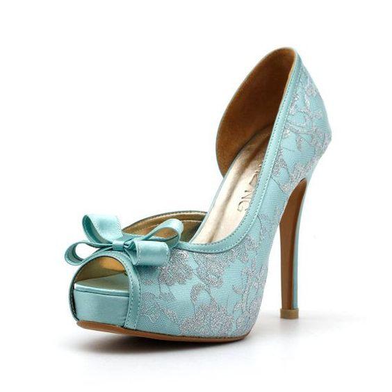 scarpe sposa celesti