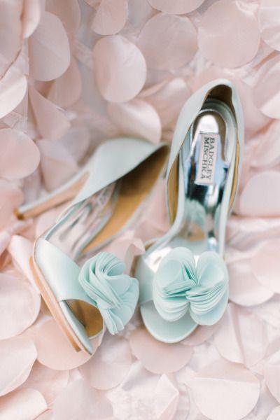 scarpe sposa - azzurre