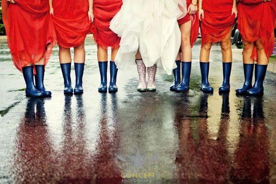 scarpe sposa stivali da pioggia sposa
