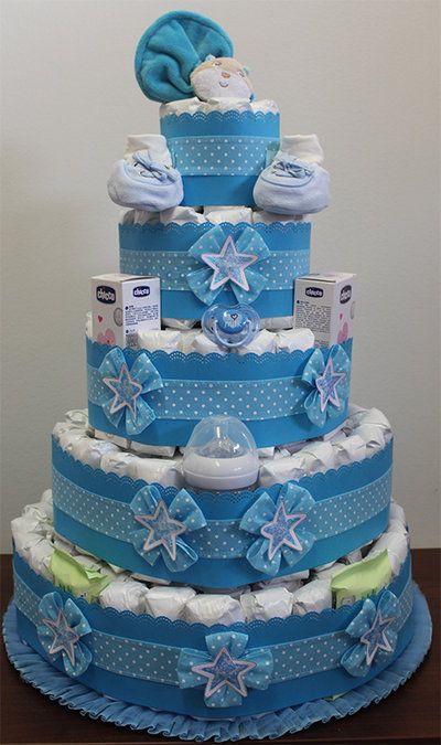 torta di pannolini per bimbo