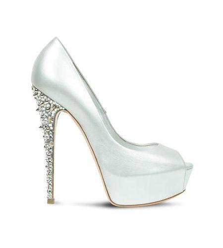 scarpe sposa tacco brillante
