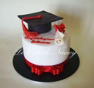 torta di laurea a un piano
