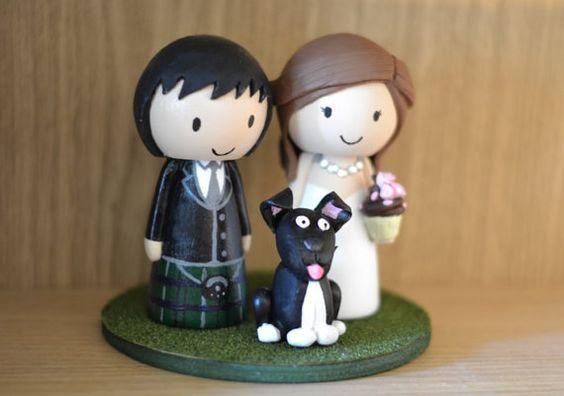 cake topper matrimonio cartoon cane