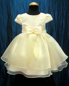 vestito per battesimo da bimba color giallo