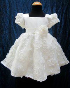 vestito classico da battesimo per bimba