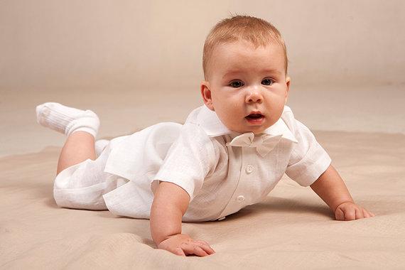 vestiti battesimo bimbo lino