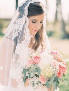 velo sposa decorato con ricami