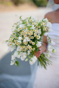 ramo de novia: margaritas