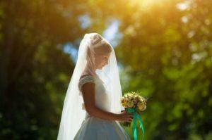velo sposa semplice
