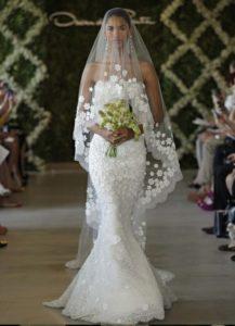 velo sposa con ricami a fiori
