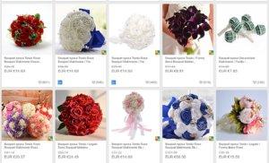 schermata selezione di bouquet sposa prezzi