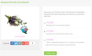 bouquet da sposa prezzi: iris e fiorellini bianchi