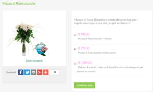bouquet da sposa prezzi: rose bianche