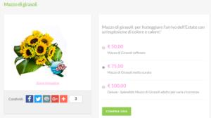 bouquet sposa prezzi: girasoli