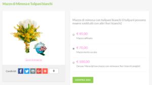 bouquet sposa prezzi: mimosa e tulipani