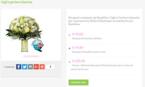 bouquet sposa prezzi: gigli e gerbere bianche