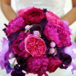 violet peony bouquet