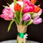 multicolour tulip bouquet