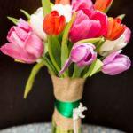 multicolour tulip bouquet