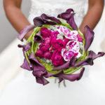 mixed calla lily bouquet