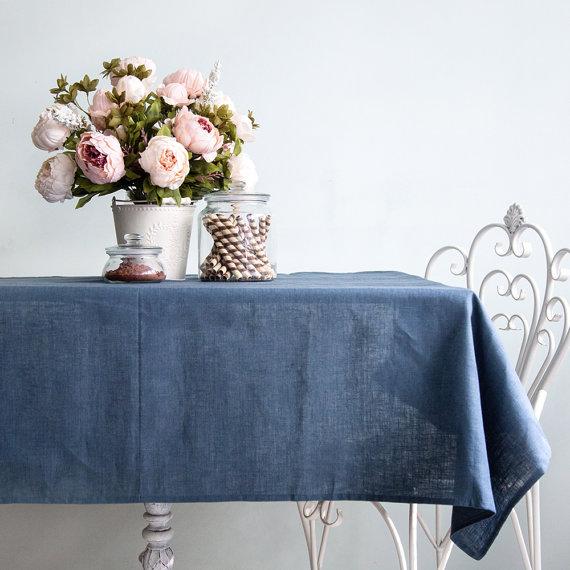 Tovagliato Matrimonio | Tovaglia in lino Blu