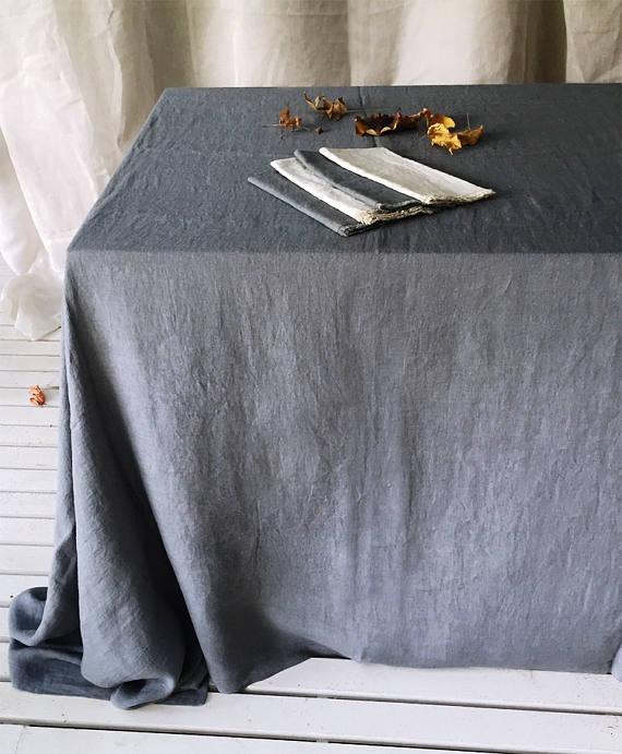 Tovagliato Matrimonio | Tovaglia Puro Lino grigio