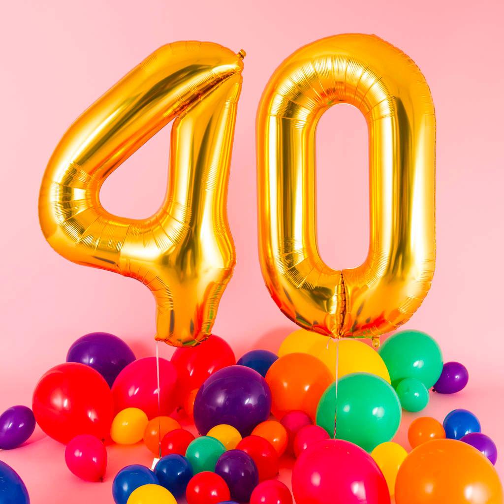festa compleanno adulti 40 anni palloncini